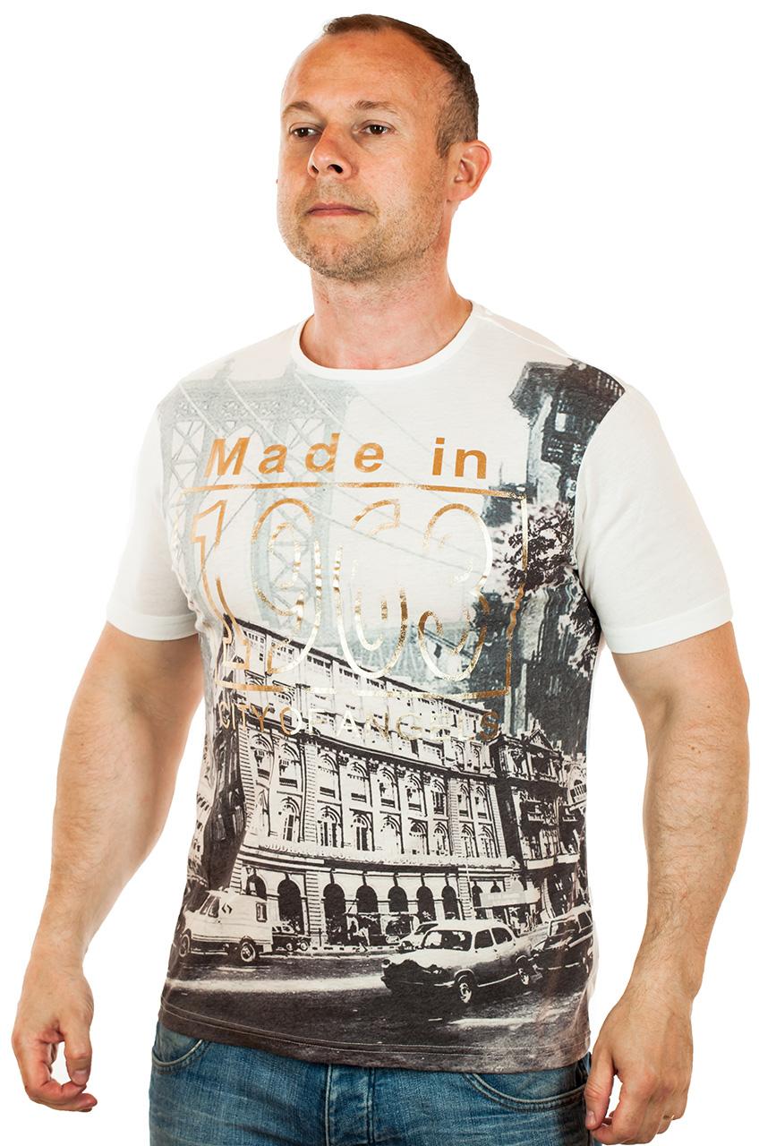 Фирменная мужская футболка по цене 599 рублей