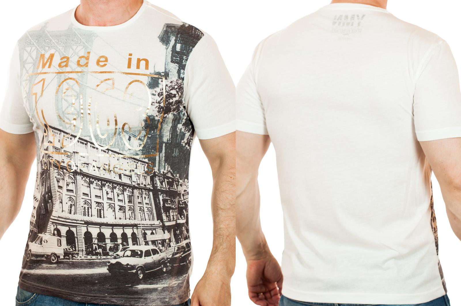 Мужская футболка от ТМ YMN из коллекции Limited Edition. Эксклюзивный фото-принт