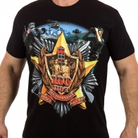 Мужская футболка к 100-му юбилею Пограничных войск.