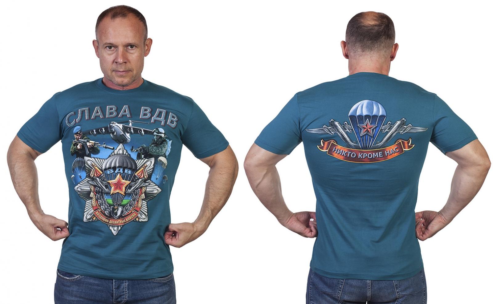 Мужская футболка Слава ВДВ! - купить в Военпро