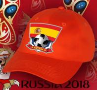Футбольная бейсболка с флагом Испании