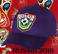 Футбольная фиолетовая бейсболка к ЧМ 2018