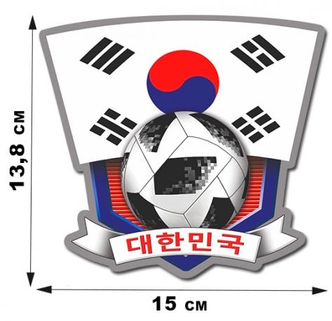 Футбольная наклейка сборной Кореи