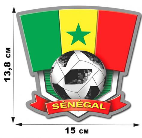 Футбольная наклейка Сенегал.
