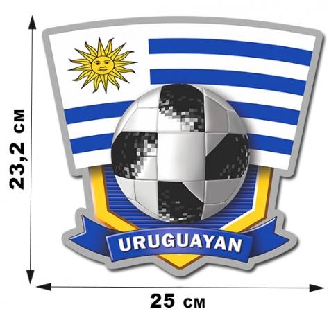 Футбольная наклейка Уругвая