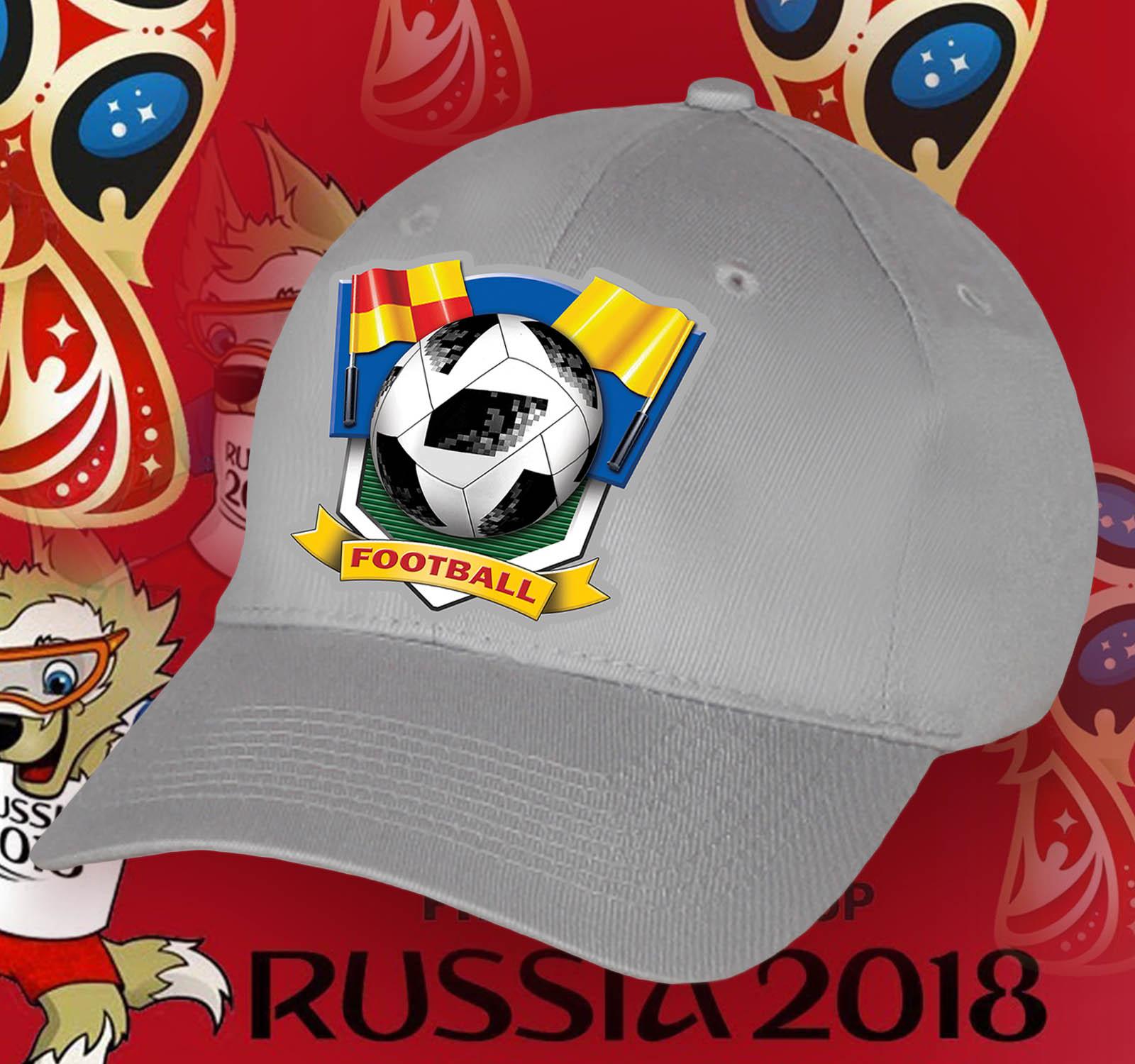 Футбольная серая кепка болельщику