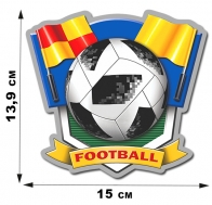 Футбольная топовая наклейка