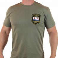 Мужская зеленая футболка ВМФ СССР Черноморский Флот