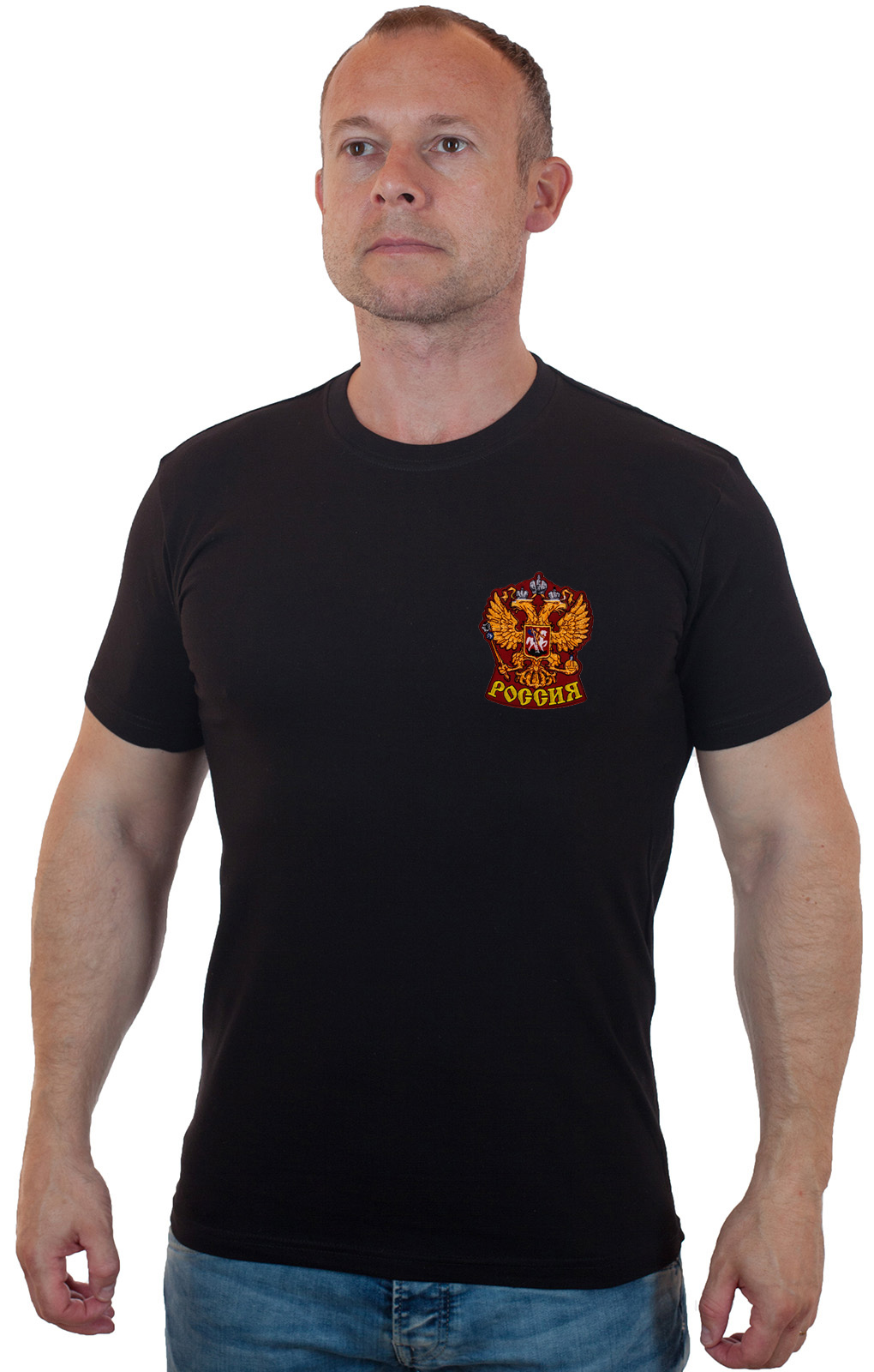 Купить в интернет магазине футболку с гербом России