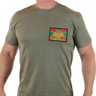 Пограничная футболка с вышивкой ГРАНИЦА НА ЗАМКЕ.