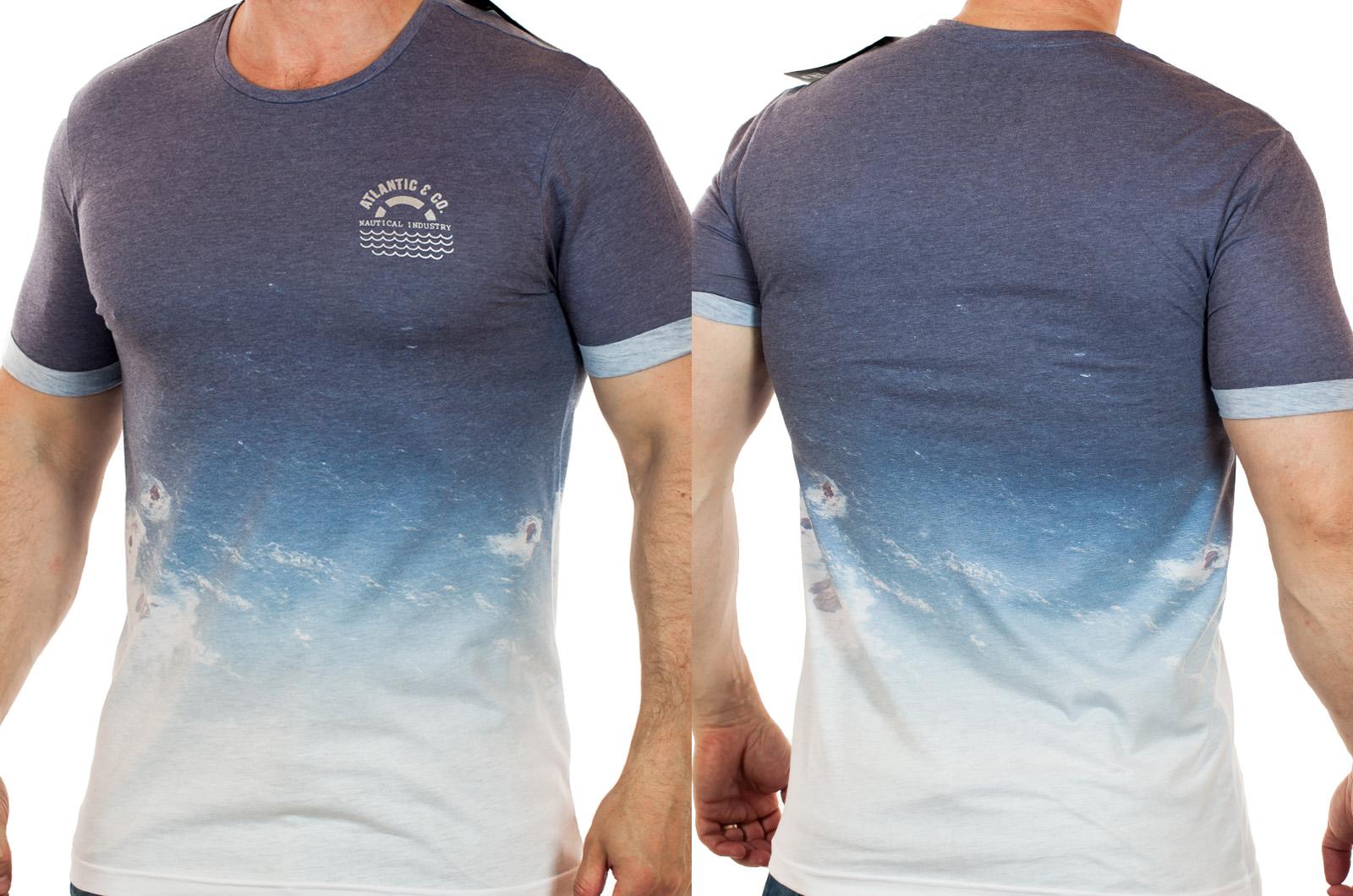 Мужская футболка Max Young Men с эффектом градиента ДЕГРАДЕ