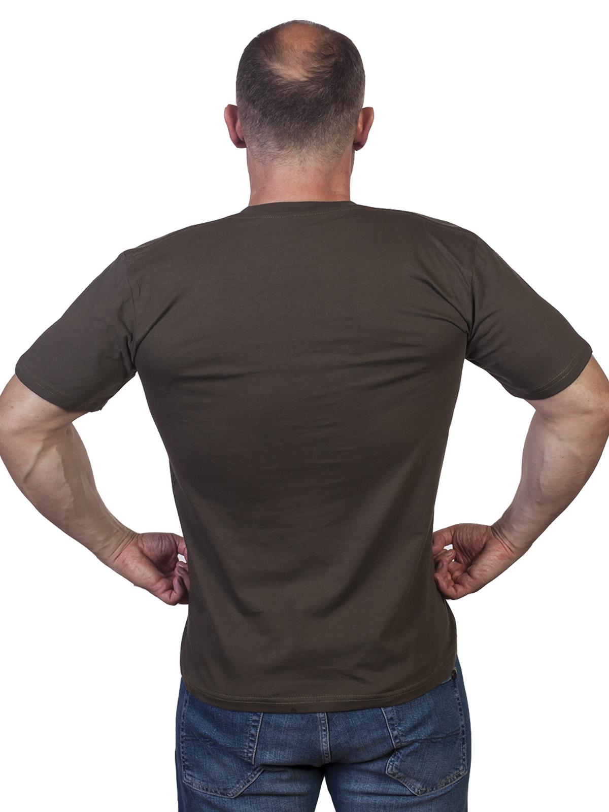 Мужская хаки футболка Армия России. - купить с доставкой