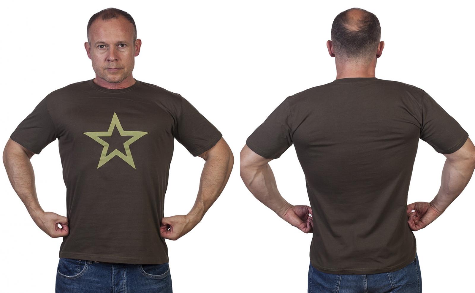Мужская хаки футболка Армия России. - купить выгодно