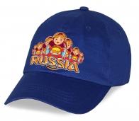 """Гарантия качества! Модная кепка """"Russia"""" с матрешками из плотного хлопка. Модель - огонь! Яркая, стильная, удобная.  Заказывай и носи с гордостью!"""