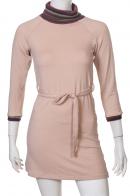 Гармонично-розовое приталенное платье