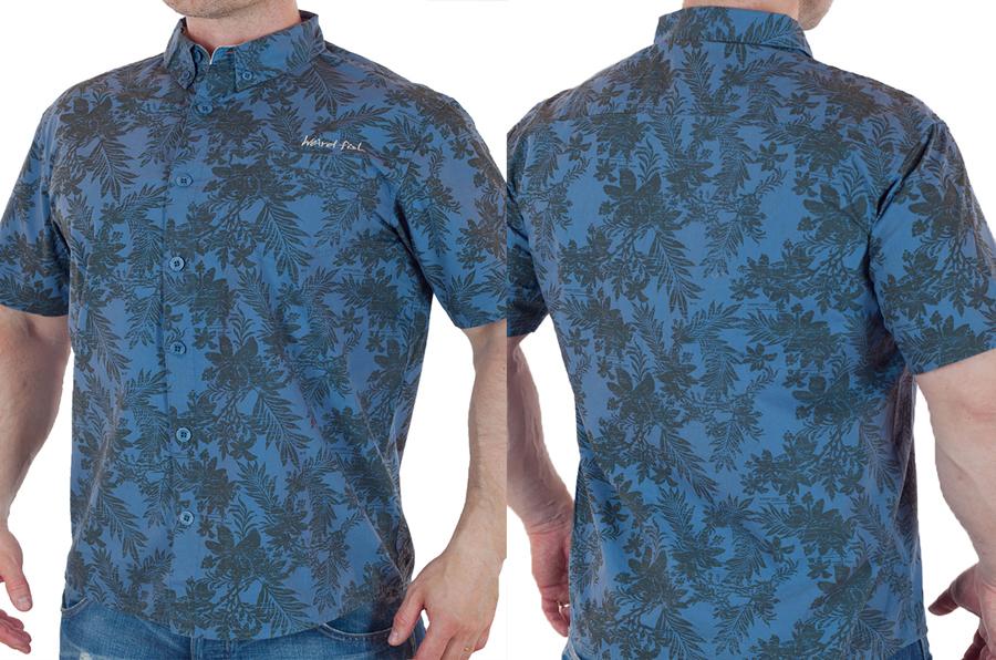 Гавайская рубашка с коротким рукавом от Weird Fish с доставкой