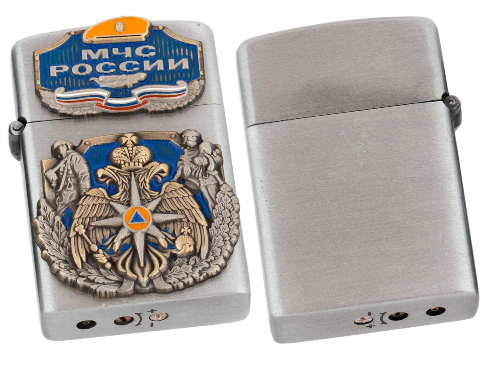 Газовая зажигалка МЧС с авторскими накладками по лучшей цене