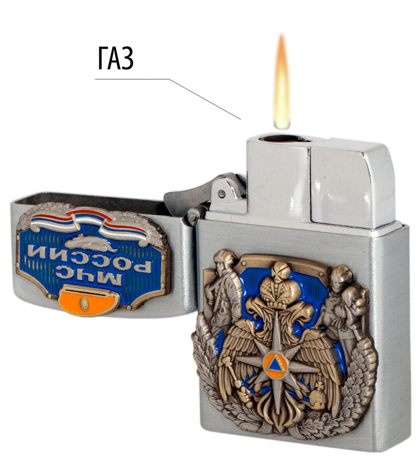 Газовая зажигалка МЧС с авторскими накладками