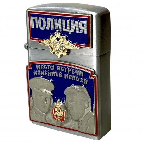 """Газовая зажигалка с накладками """"Полиция"""""""