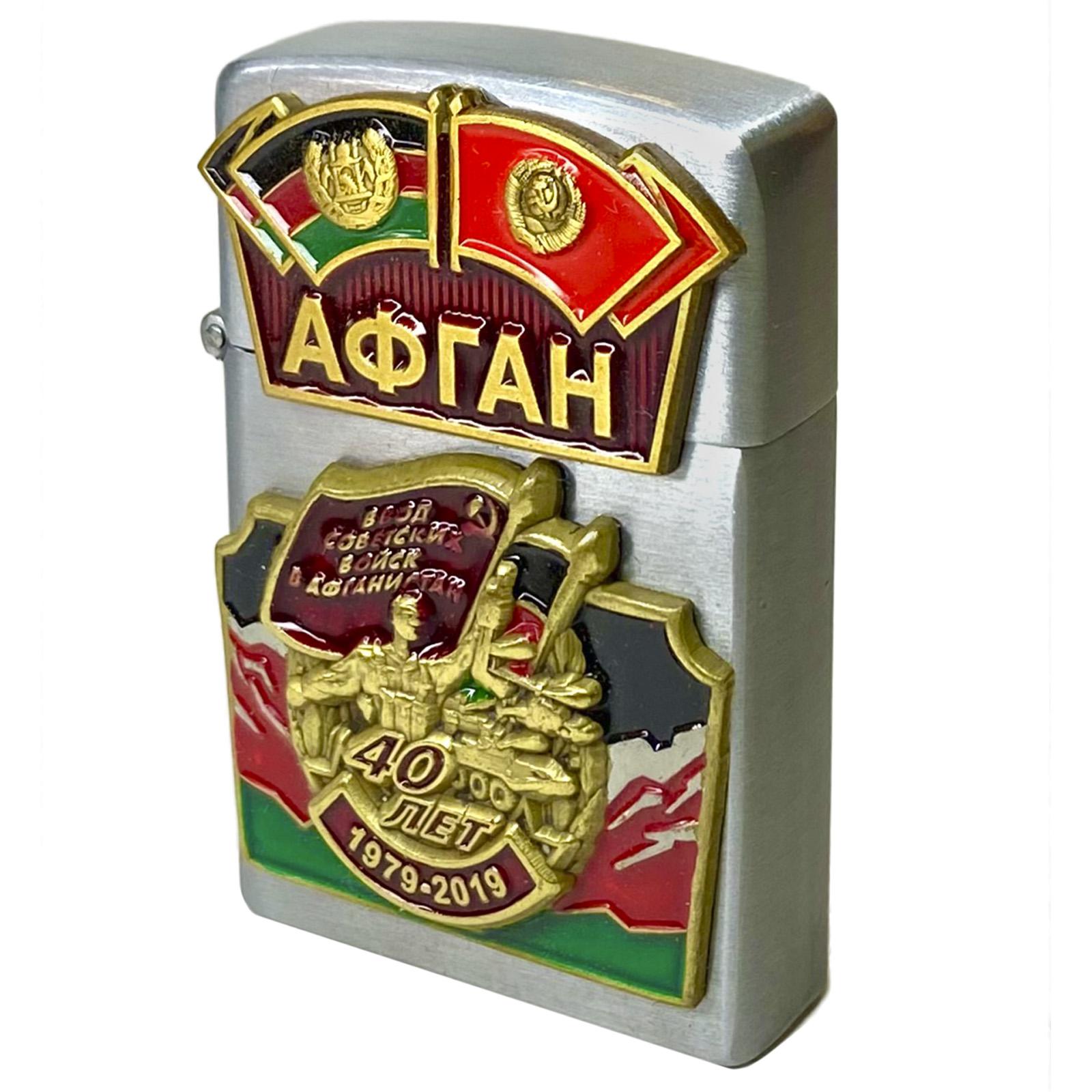 """Газовая зажигалка с накладкой """"Афган"""" - купить выгодно"""