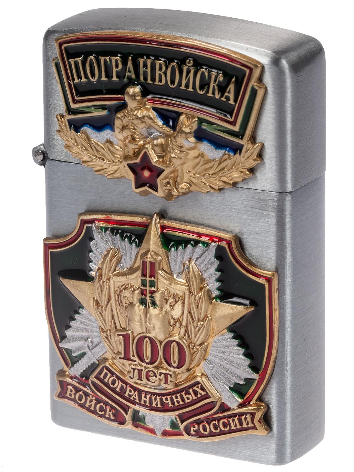 """Газовая зажигалка Zippo """"100 лет Пограничным войскам"""" с доставкой недорого"""