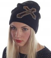 Гладкая женская шапка с флисом