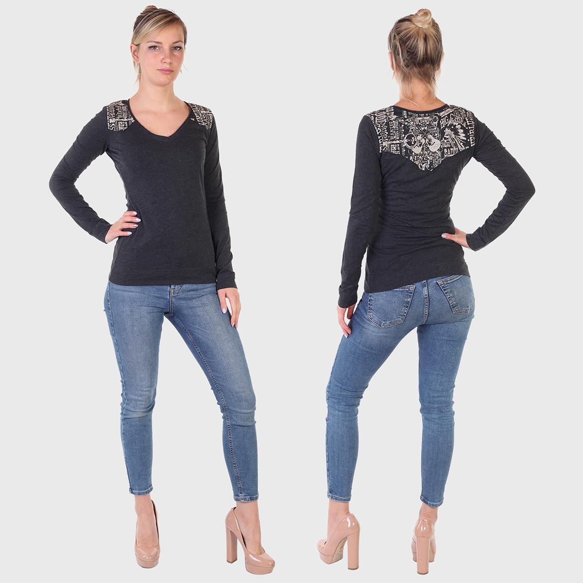 Модные женские регланы с оригинальными принтами – наличие, все размеры