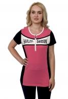 Розовая женская футболка Harley-Davidson