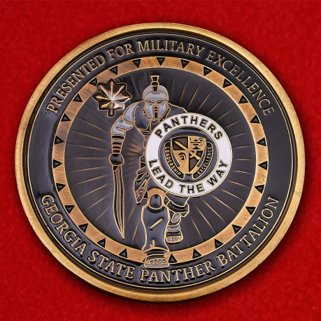 Georgia State Panther Battalion Challenge coin