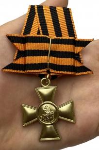 Георгиевский крест 1 степени с бантом - на ладони