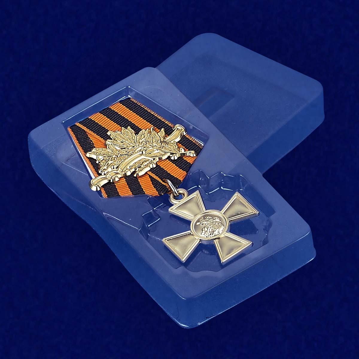 Футляр к георгиевскому кресту 1 степени (с лавровой ветвью)