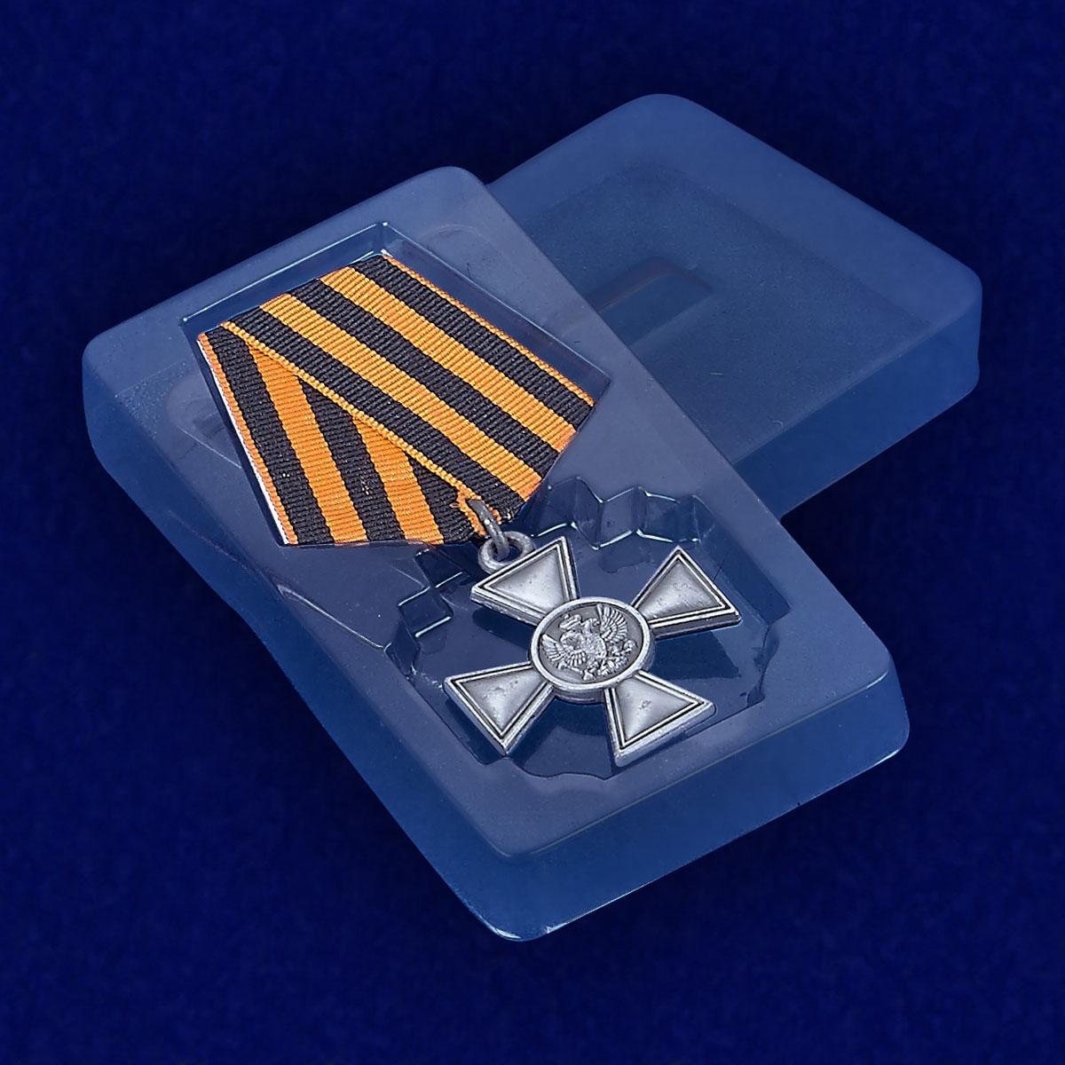 Георгиевский крест для иноверцев - вид в футляре