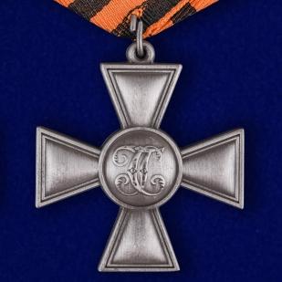 Георгиевский крест ДНР в футляре из флока бордового цвета - купить в подарок
