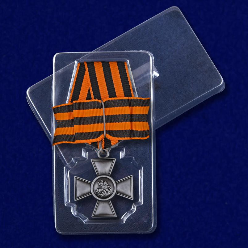 Георгиевский крест 3 степени с бантом - в пластиковом футляре