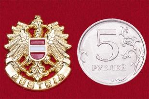 """Геральдический значок """"Герб Австрии"""" (еврозажим, золото)"""