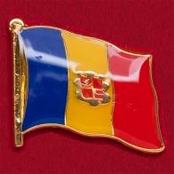 Геральдический значок с флагом Румынии
