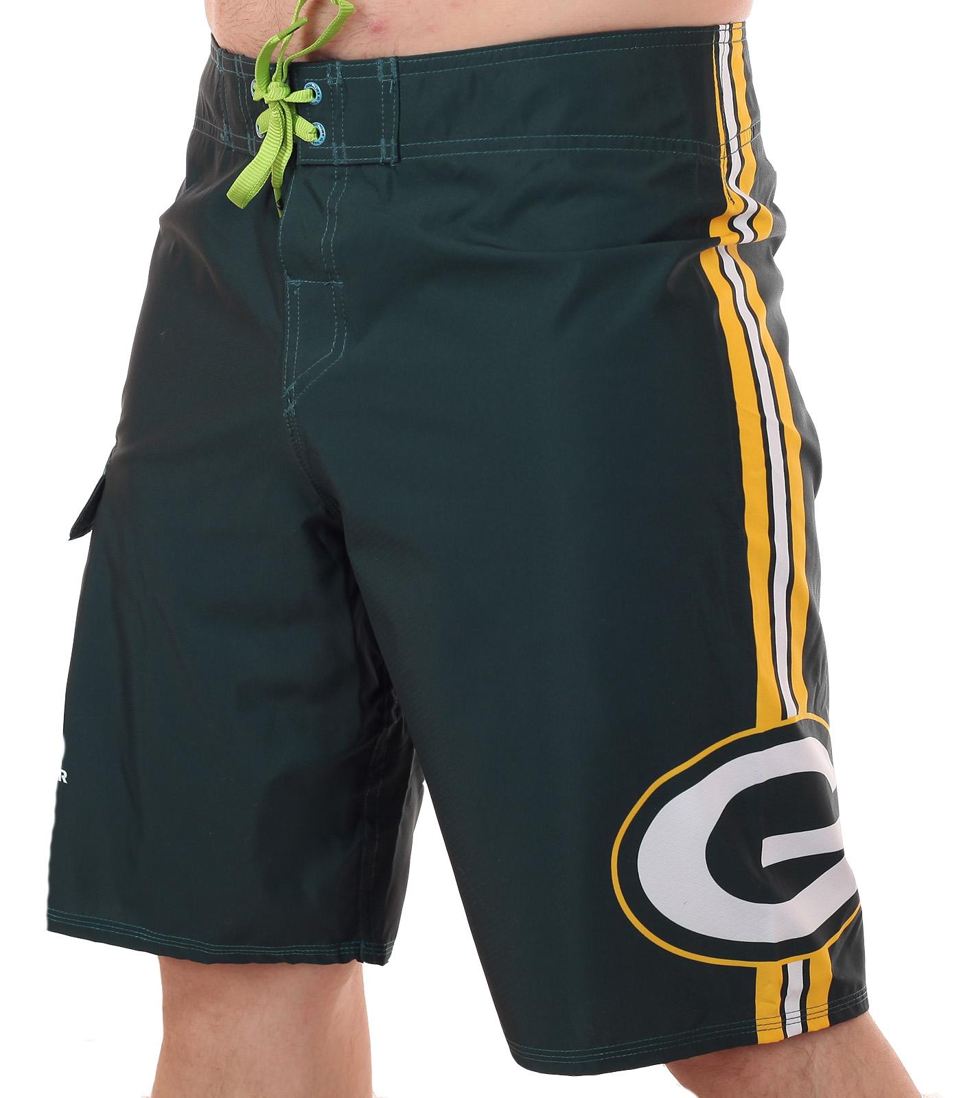Гидрофобные бордшорты с логотипом футбольного клуба НФЛ Green Bay Packers