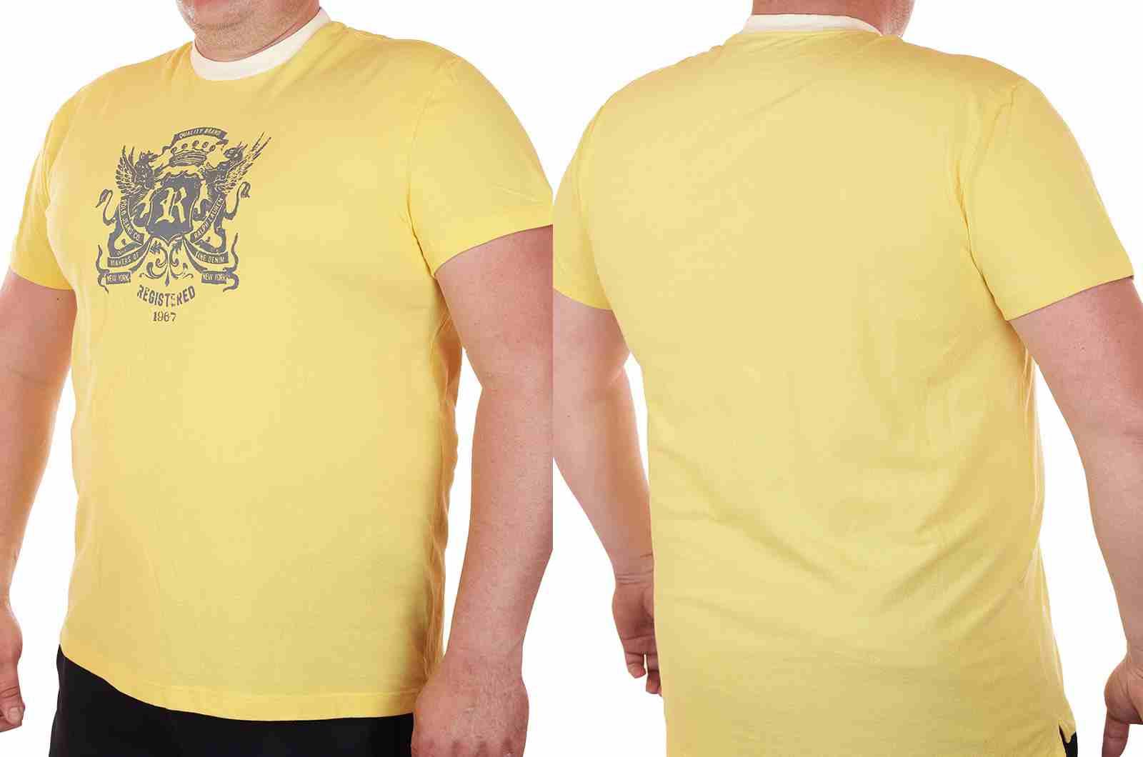 Гламурная футболка Ralph Lauren (США) для модных парней-двойной ракурс