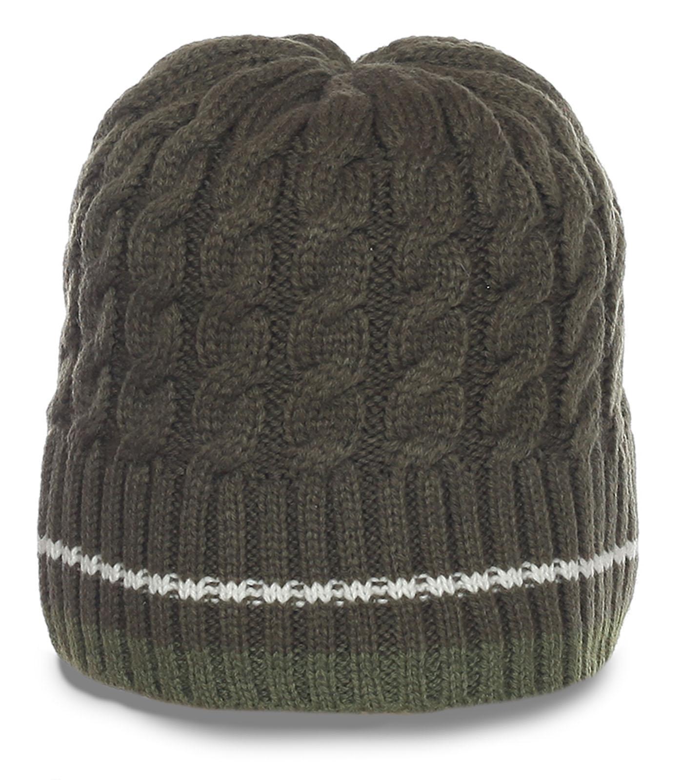 Гламурная мужская шапка с рельефным узором утепленная флисом освежит ваш лук