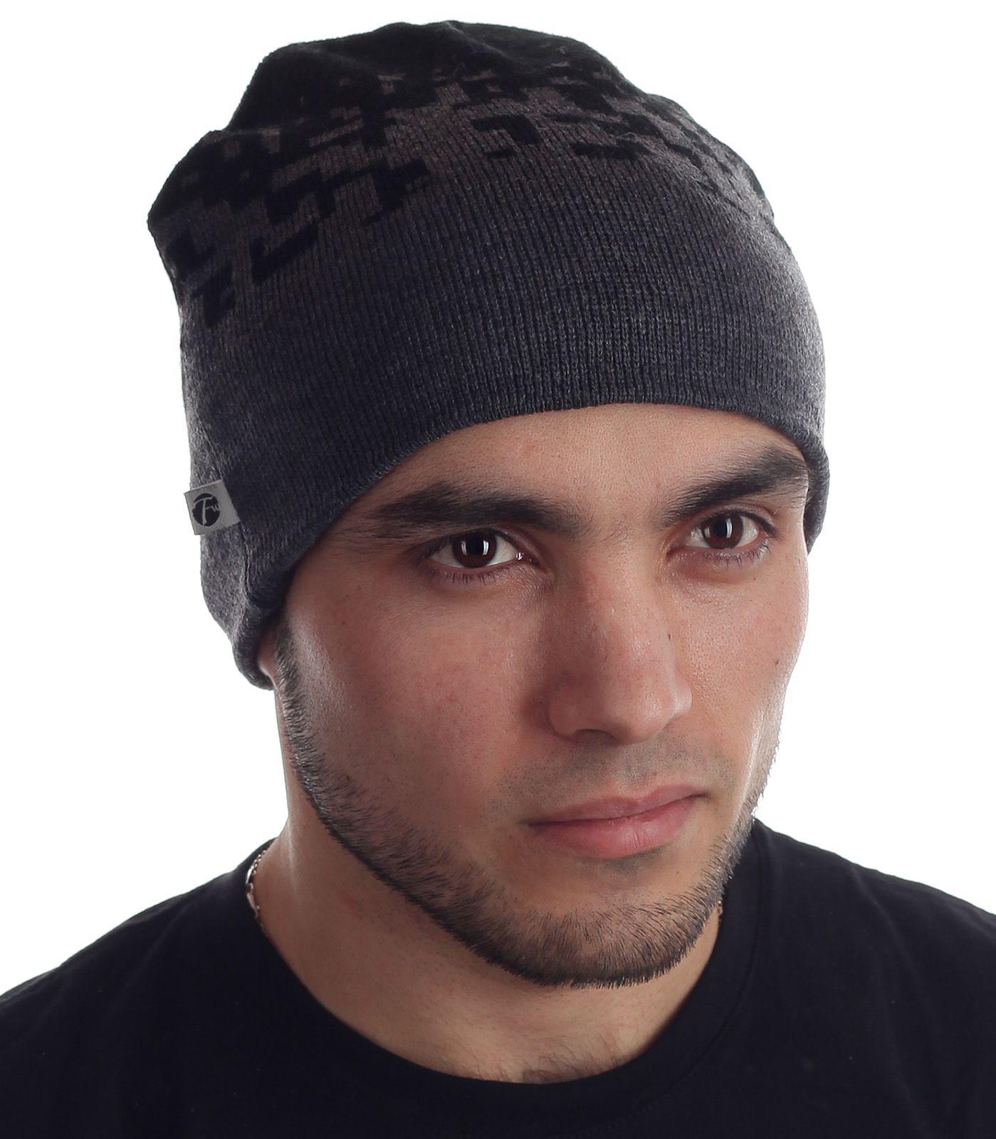 Гламурная мужская шапка украшенная лаконичным узором