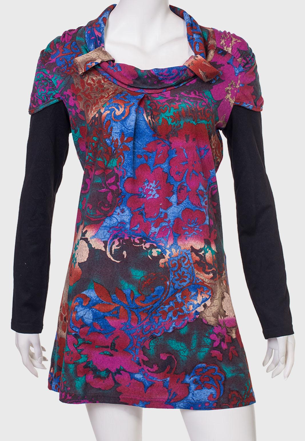Купить гламурное платье с броским принтом от LONGBAO