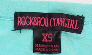 Женский бирюзовый гольф Rock and Roll Cowgirl