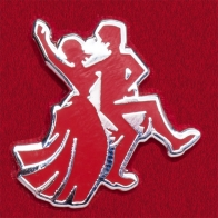 """Голландский карнавальный значок """"Танцующая пара"""""""