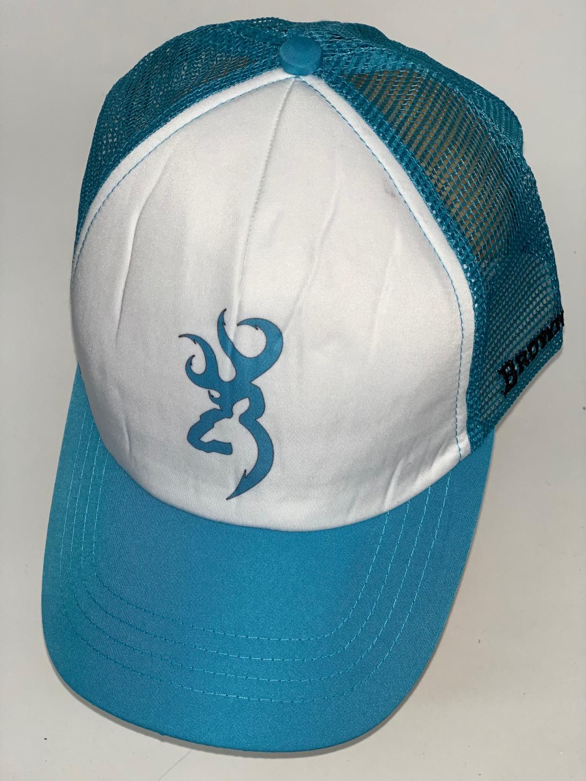 Голубая бейсболка Browning с принтом и сеткой