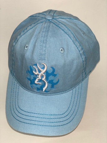 Голубая бейсболка Browning с вышивкой и принтом
