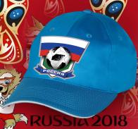 Голубая бейсболка Россия.