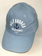 Голубая бейсболка с черным якорем и белой надписью