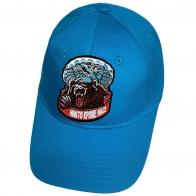 Голубая бейсболка с нашивкой ВДВ Медведь в голубом берете