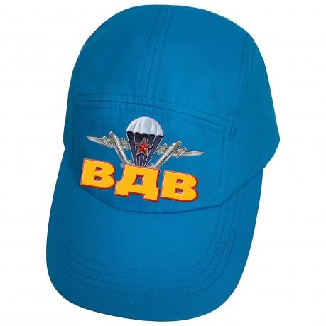 Голубая бейсболка с термопринтом ВДВ