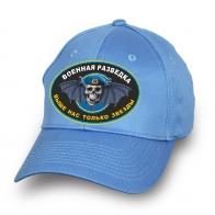 Голубая бейсболка военной разведки с черепом